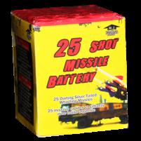 Feux d'artifice 25 Shot Missle Battery